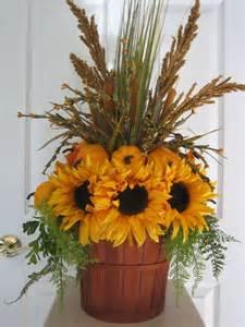 sunflower pumpkin arrangement country fall autumn centerpiece