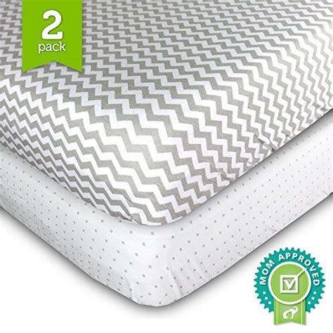 crib sheets set 2 pack fitted soft jersey cotton crib