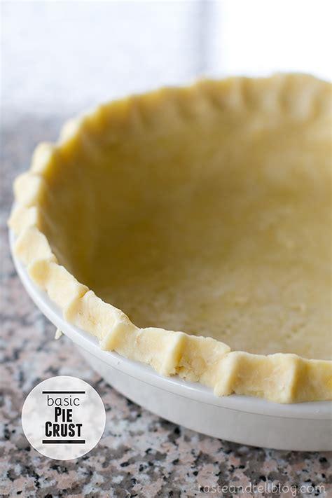 basic pie crust taste and tell