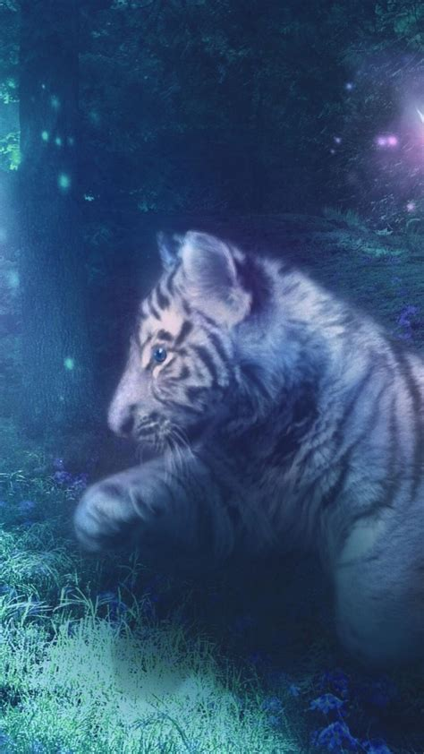 White tiger deviantart fantasy art digital blurred ...