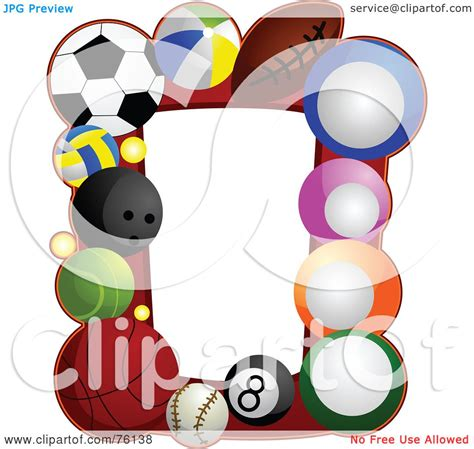 Royalty Free (RF) Clipart Illustration of a Sports Ball