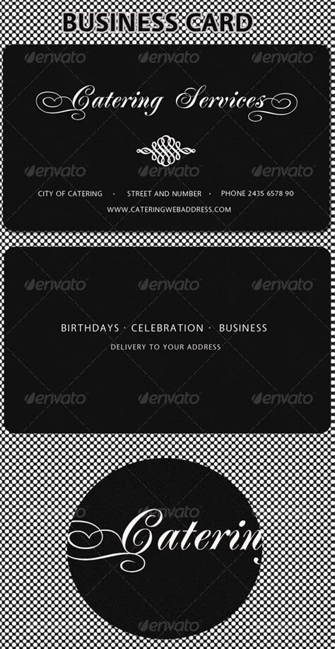 catering card template catering services business card graphicriver