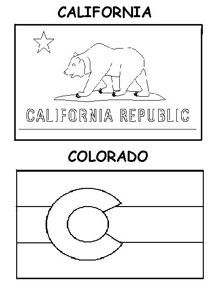 Printable Coloring Pages California Flag Coloring Page