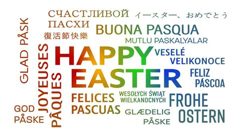 happy easter in italian language happy birthday word cloud in different languages stock