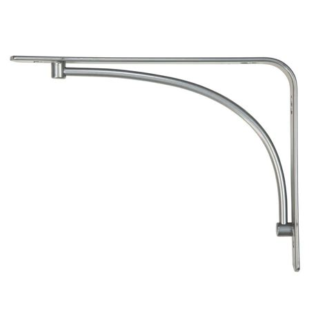 decorative shelf brackets rubbermaid 6 in x 8 in h satin nickel steel arch decorative shelf bracket 1877642 the home depot