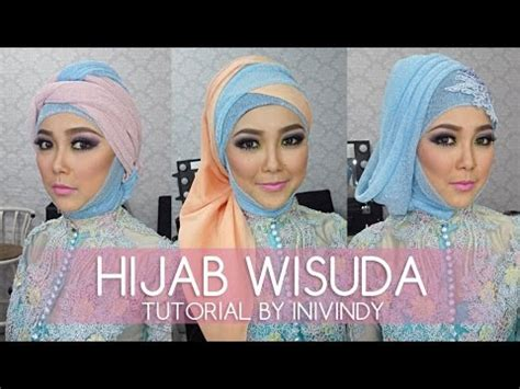 tutorial hijab graduation hijab tutorial for wedding party trend 2016 doovi