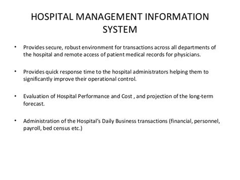 Mba Information Systems Worth It by Of Mis In Hospital
