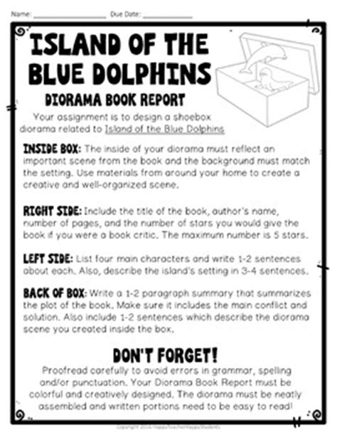 island of the blue dolphins book report island of the blue dolphins project shoebox diorama book
