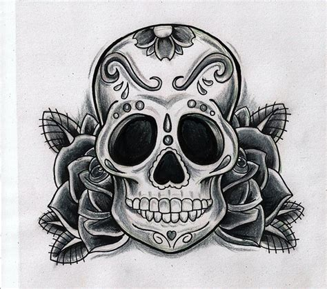 sugar skull tattoo designs tumblr sugar skull by kirzten on deviantart