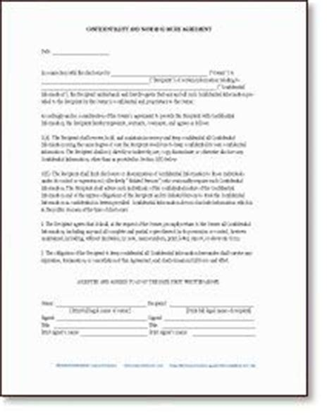 free sle memorandum of understanding template right of refusal with non disclosure agreement