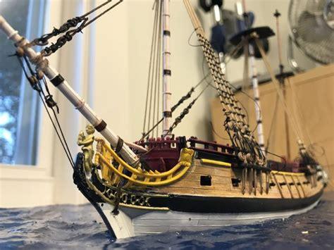 Jolly Roger Pirate Ship Model