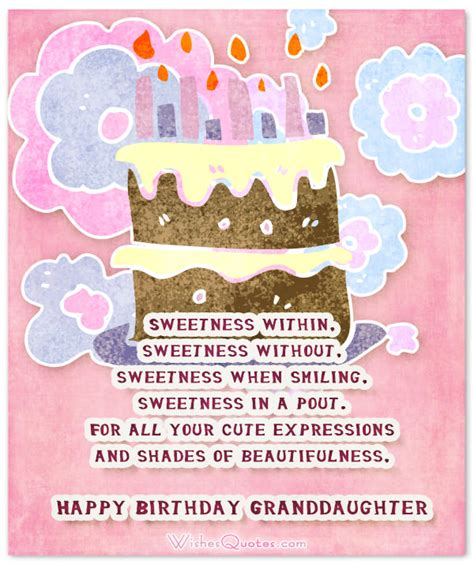 Birthday Quotes For A Granddaughter Sweet Birthday Wishes For Granddaughter