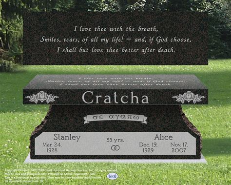 bench headstones for graves images bench monuments monuments markers monuments