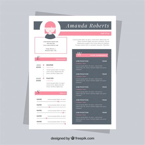 nice design cv template nice resume template vector free download