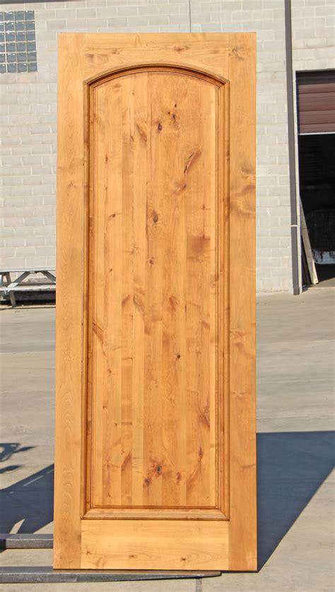 Knotty Alder Exterior Door Rustic One Panel Entry Door In Knotty Alder On Clearance