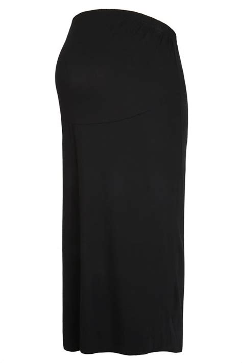Sale Flower Panel Black Dress Sm bump it up maternity black maxi skirt with comfort