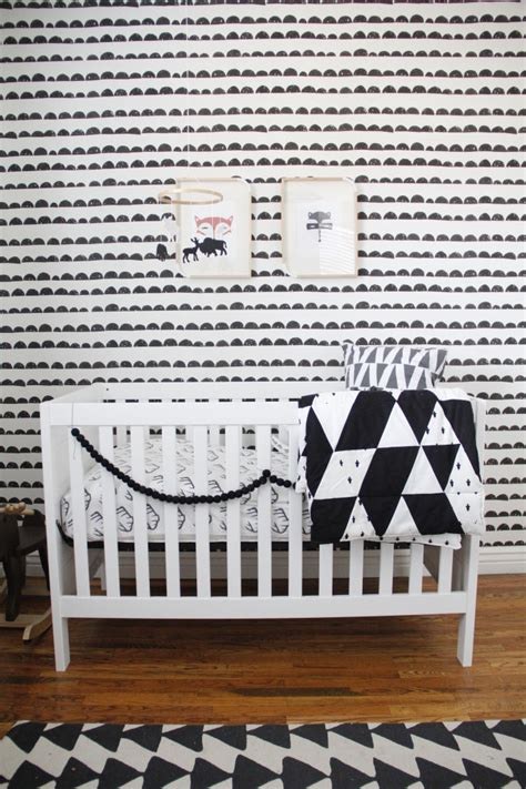 Finn S Black And White Woodland Nursery Project Nursery Black And White Nursery Decor