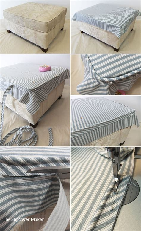 how to slipcover an ottoman how to slipcover an ottoman chic slipcover makes an