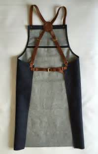 Chef Aprons With Leather Selvedge Selvage Denim And Leather Apron Cross Back Apron