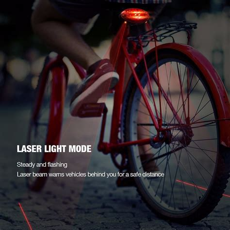 Lu Laser Sepeda Bicycle Laser Strobe Tailight 5 Led 3 mode bicycle turn signal light brake turn signal light wireless factory directly buy