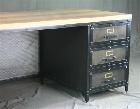modern desk with drawers combine 9 industrial furniture modern industrial desk