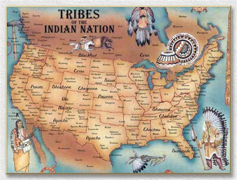 american tribes by map american history