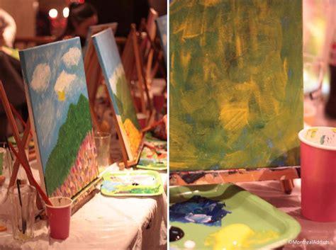 paint nite montreal coupon les soir 233 es paint nite originales et vraiment chouettes