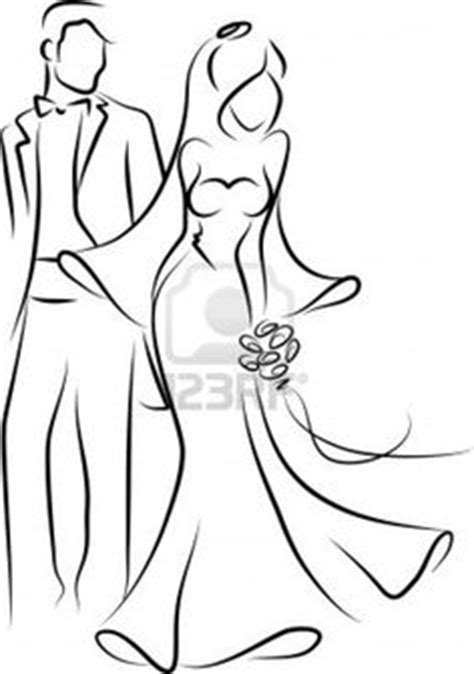 And Groom Outline Drawing by Dibujos Clipart Digi Sts Wedding Novios Boda Dibujos Cliparts