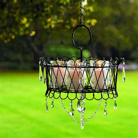 Outdoor Chandelier Diy Diy Garden Chandelier Outdoortheme