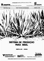 SISTEMA de produção para sisal. - Portal Embrapa