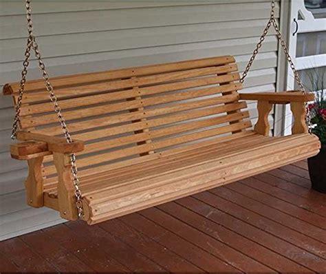 5 wood swing amish heavy duty 5ft outdoor wooden porch swing set w