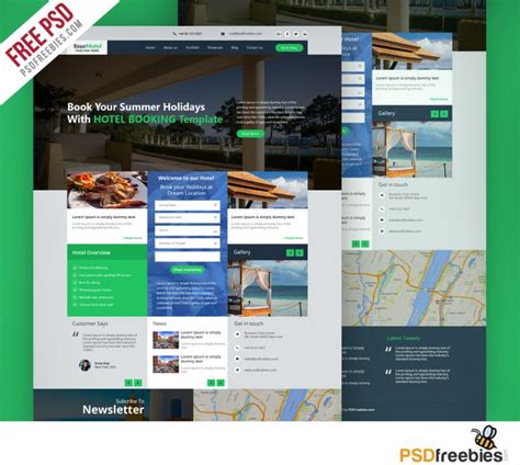 Hotel And Resort Booking Website Template Free Psd Download Download Psd Guest House Website Templates Free