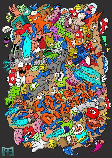 doodle digital doodle corridor digital t shirt design 2 by redstar94 on