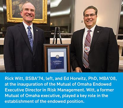 Internship Mba Creighton by Horwitz Named Of Omaha Endowed Executive Director