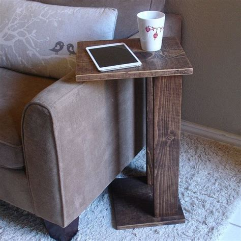 sofa arm table sofa chair arm rest table stand with storage pocket for