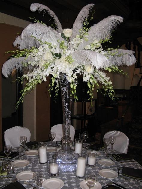 19 best Feather Centerpieces images on Pinterest   Feather