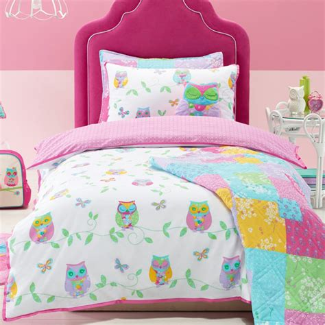 kids cotton comforter owl song cotton cartoon children bedding set bedclothes