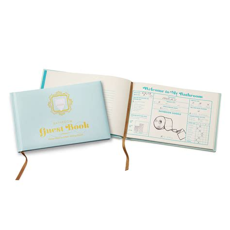 the bathroom book the bathroom guestbook funny book potty humor uncommongoods