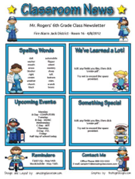 custom classroom newsletter printable sle home
