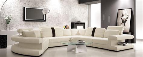 divani casa  modern white  black bonded leather