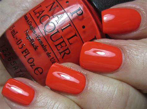 My Paprika Is Hotter Than Yours opi my paprika is hotter than yours swatch ommorphia bar