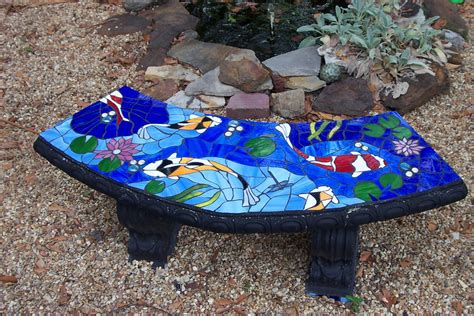 mosaic garden bench stained glass mosaic garden bench a photo on flickriver