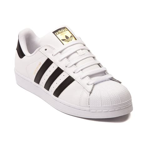 mens adidas superstar athletic shoe whiteblack 436108