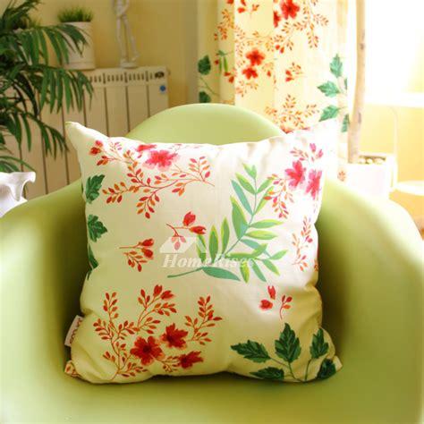Pillow Box Floral Green Kotak Handuk Box Notes cotton country floral and white throw pillows cheap maple