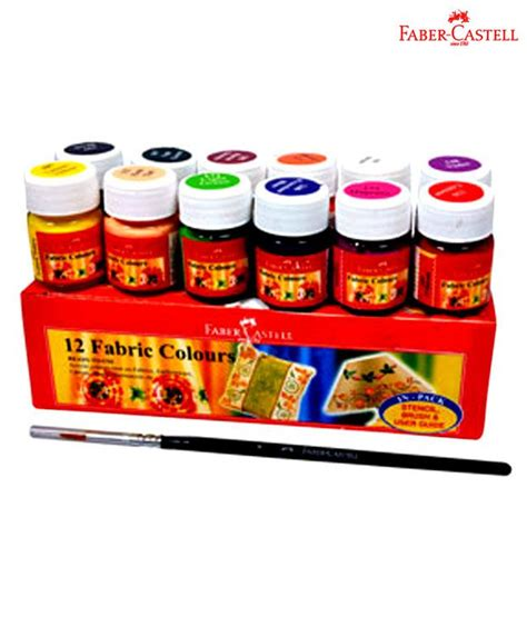 acrylic paint faber castell faber castell assorted fabric colors 2 packs 12 each