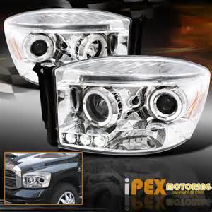 2007 Dodge Ram 1500 Headlights 2006 2007 2008 Dodge Ram 1500 2500 3500 Halo Projector Led