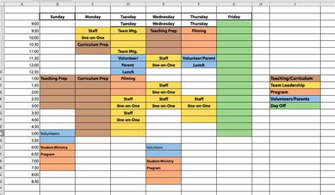 Block Schedule Template how our ministry team tracks measures and improves efficiency