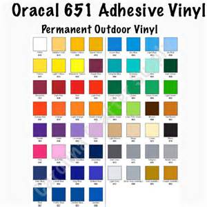 oracal 651 color chart oracal 651 12x12 sheets adhesive vinyl your color