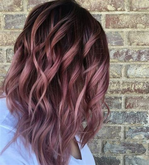 diy rose gold hair for brunettes 25 best ideas about brown hair colors on pinterest