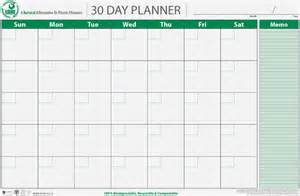 Blank 30 Day Calendar Template by Thirty Day Calendar Calendar Template 2016